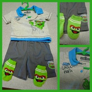 Other - 6-9months Oscar the grouch outfit